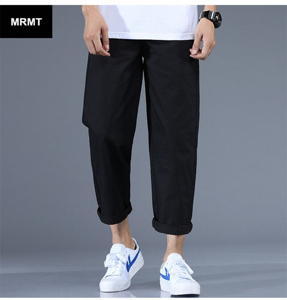 MRMT 2020 Brand Men's Thin Section Trousers Broad-legged Pants for Male Straight Casual 9 Pants Casual Trouser