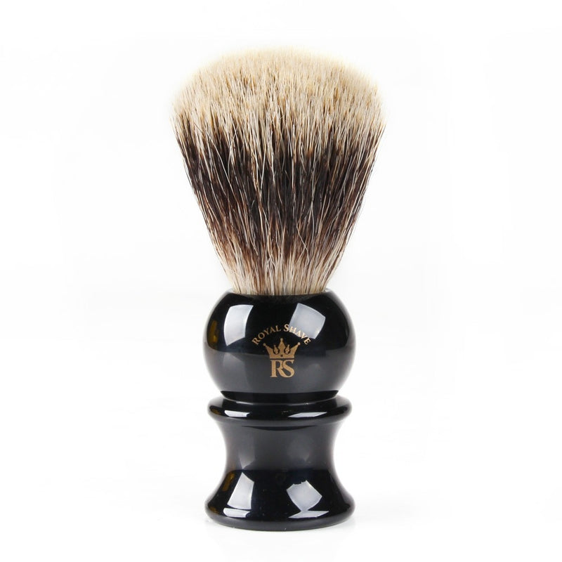 RoyalShave 4-Piece Straight Razor Set - Shaving Brush
