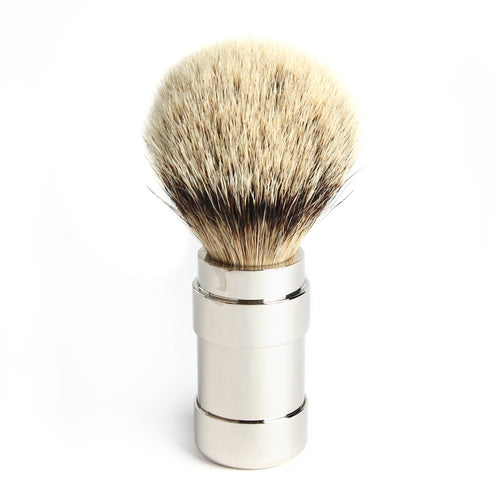 Pils 101RWL21 Silvertip Badger Brush 21mm, High Gloss Chrome