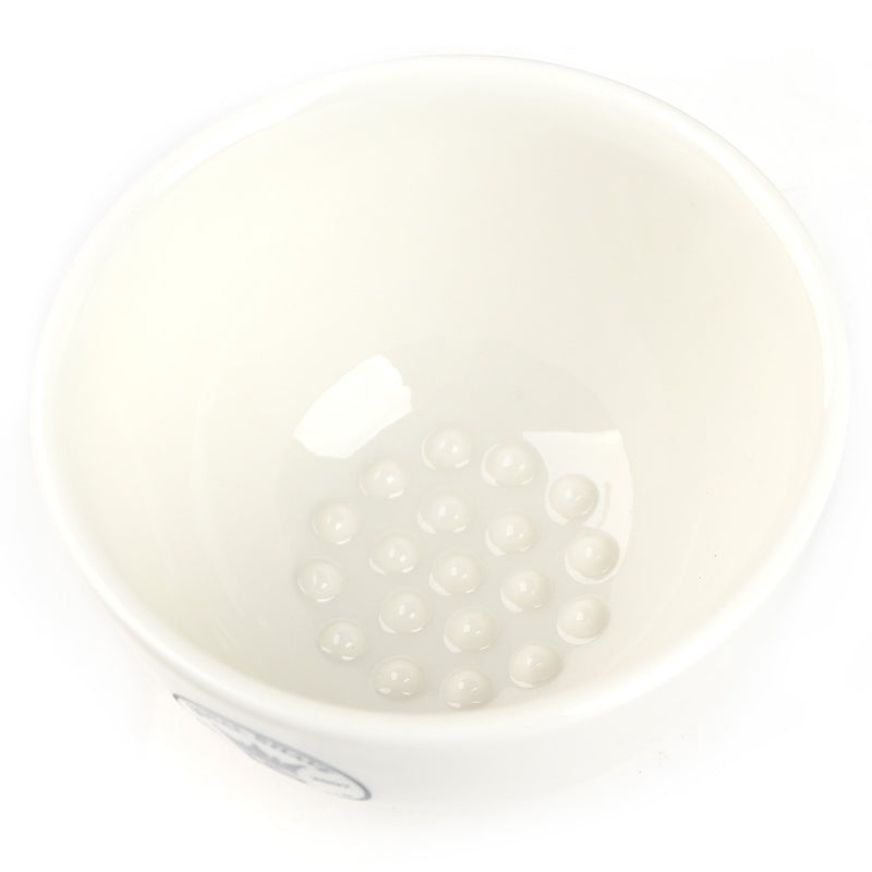 Royal Shave Ceramic Textured Shaving Bowl - White