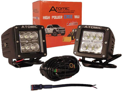 18 Watt Work Light Kit for Vehicles ( spot pattern )
