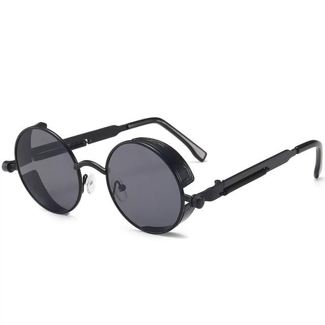Steampunk Spectacles Retro Sunglasses Black