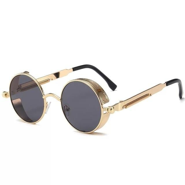 Steampunk Spectacles Retro Sunglasses Gold