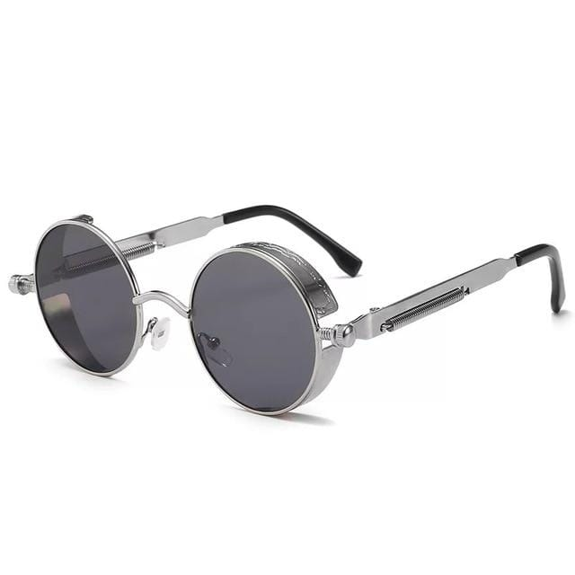 Steampunk Spectacles Retro Sunglasses Silver