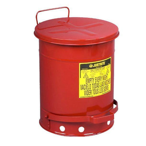 Justrite® Oily Waste Cans