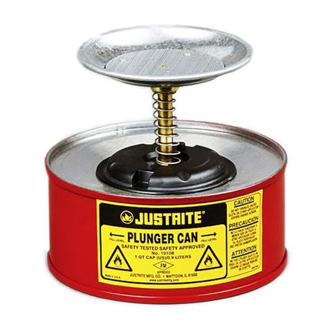 Justrite® Plunger Cans