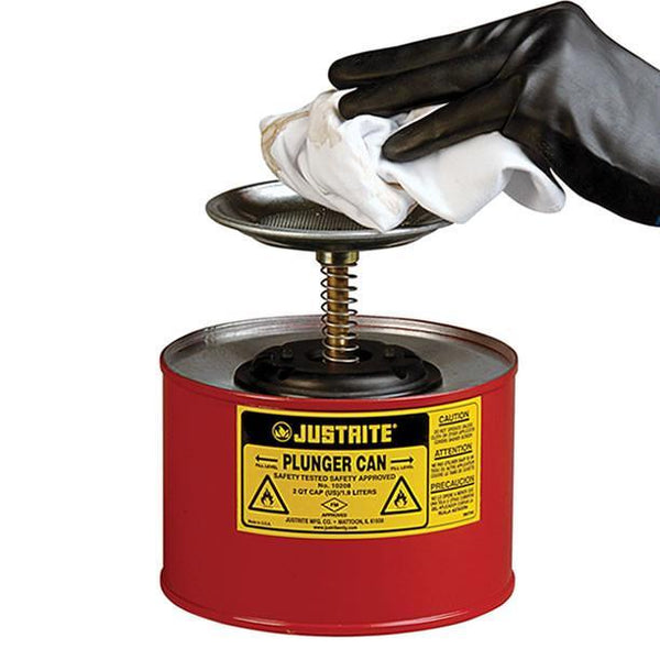 Justrite® Plunger Can - 10208Z ||2ltr capacity