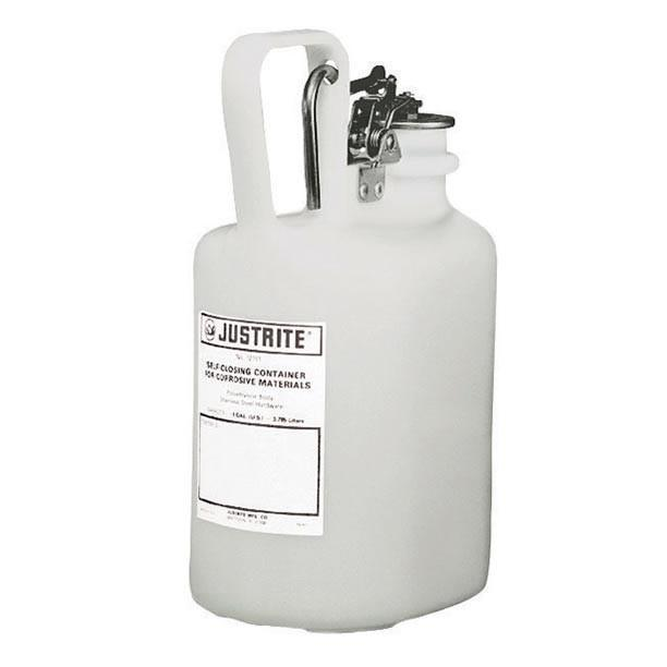 justrite Self-Close Corrosive Waste Can