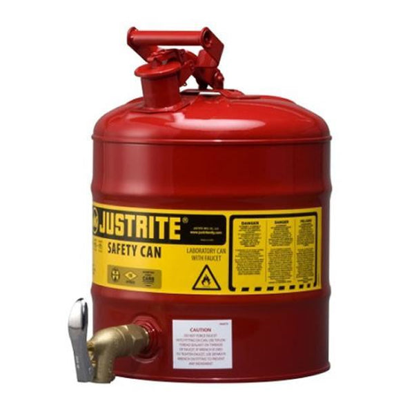 Justrite® Laboratory Can - 7150150Z ||19ltr capacity & 08902 tap
