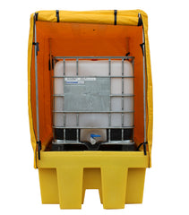 Covered Single IBC Spill Pallet - BB1C || 1100ltr Sump Capacity