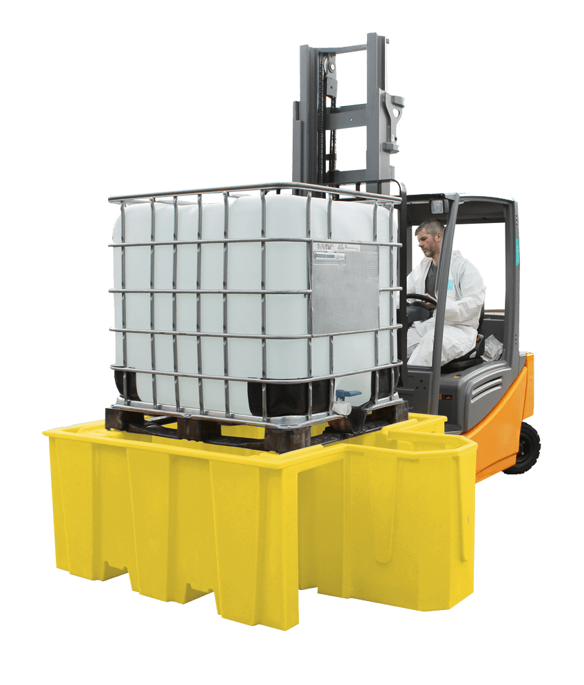 IBC Spill Pallet With Built-in Dispensing Area - BB1D ||1100ltr Sump Capacity