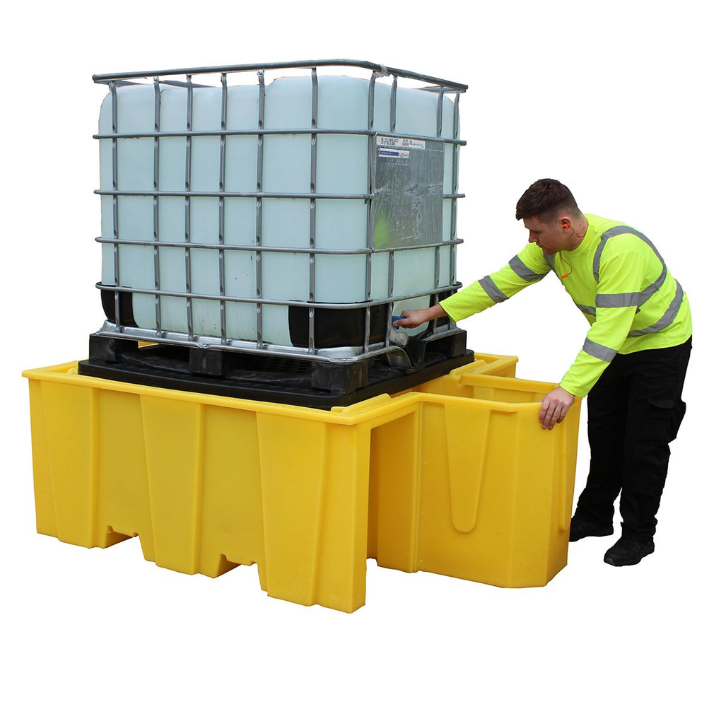 IBC Spill Pallet with Built-in Dispensing Area - BB1DG ||1100ltr Sump Capacity