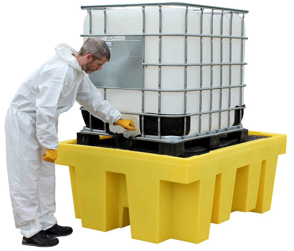 Single IBC Spill Pallet with Removable Deck - BB1 || 1100ltr Sump Capacity
