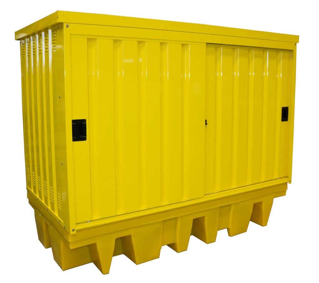 Poly Drum Spill Pallet with Steel Cover - BP8HCS ||1140ltr Sump Capacity