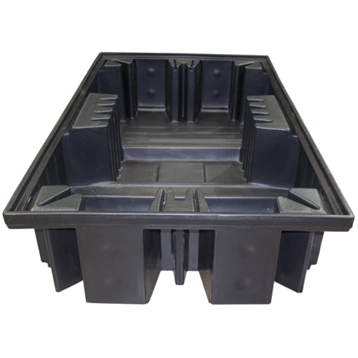Black Double IBC Spill Pallet - BB4 ||1150ltr Sump Capacity
