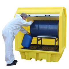 Spill Containment Pallet with Hard Cover - BP2HCH ||1 drum on cradle