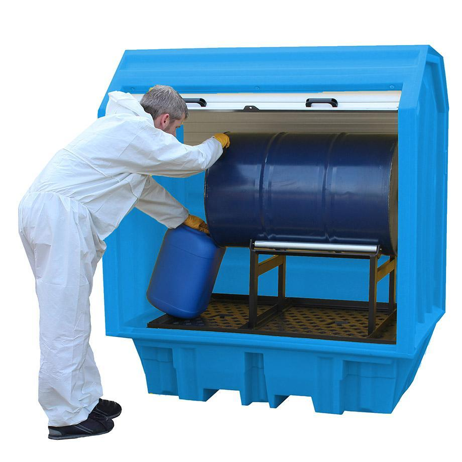 Spill Containment Pallet with Hard Cover - BP2HCH || To Hold 1 Drum on Cradle