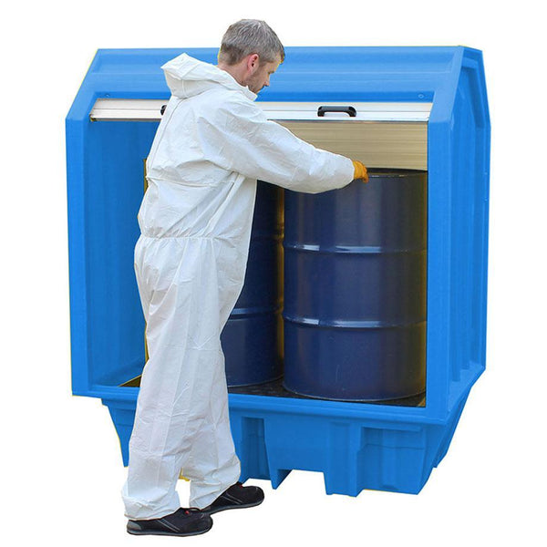 Spill Containment Pallet with Hard Cover ||2 drums -BP2HC