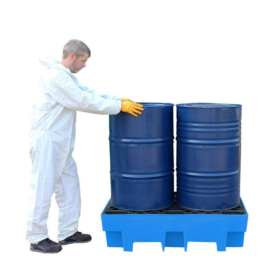 Double Drum Spill Pallet - BP2 || 240ltr Sump Capacity