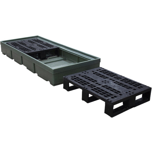 Recycled Drum Spill Pallet (In Green Only) - BP3 ||To Hold 3 Drums