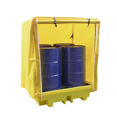 Covered Drum Spill Pallet - BP4C ||4 drums