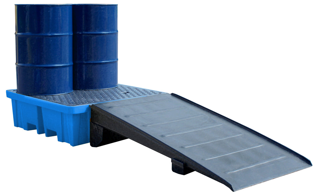 Plastic Drum Spill Pallet With 4-Way Forklift Entry - BP4FW ||To Hold 4 Drums