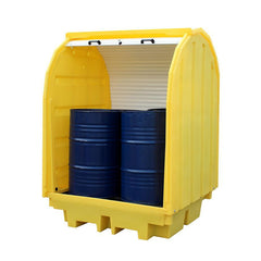 Spill Containment Pallet with Hard Cover ||4 drums - BP4HC