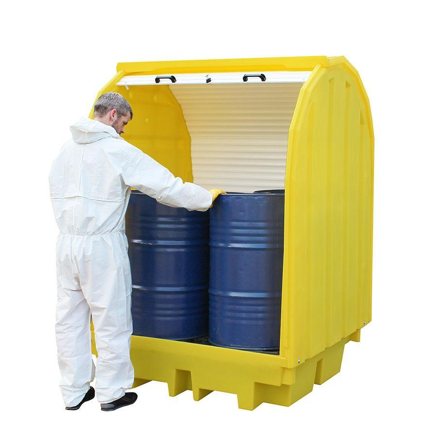 Spill Containment Pallet with Hard Cover - BP4HC ||To Hold 4 Drums