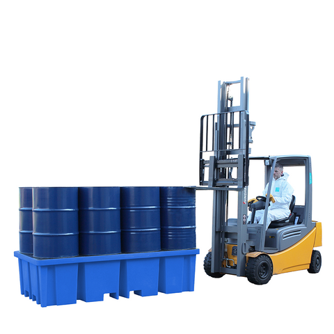Plastic Drum Spill Pallet ||8 drums 4-way forklift entry