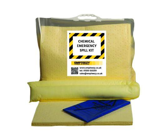 Chemical Spill Kit Clip Top Bag with Carry Handle - C30SK || 30ltr Absorbency