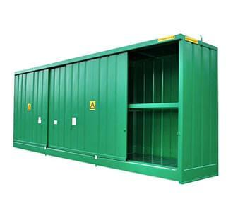 Drum or IBC Bunded Store - DPU48-12 ||48 drums or 12 IBC