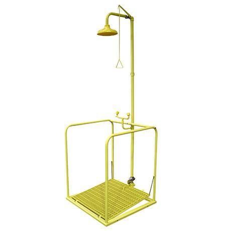 Combination Shower With Self Drain Platform - CPSE