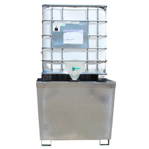 Galvanised Steel Single IBC Spill Pallet - GSP1IBC  || 1100ltr Sump Capacity