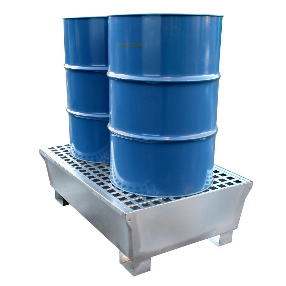 Galvanised Steel Double Spill Pallet - GSP2D || 226ltr Sump Capacity
