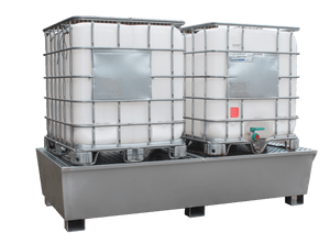 Double IBC Spill Pallet - Galvanised Steel - GSP2IBC || 1100ltr Sump Capacity