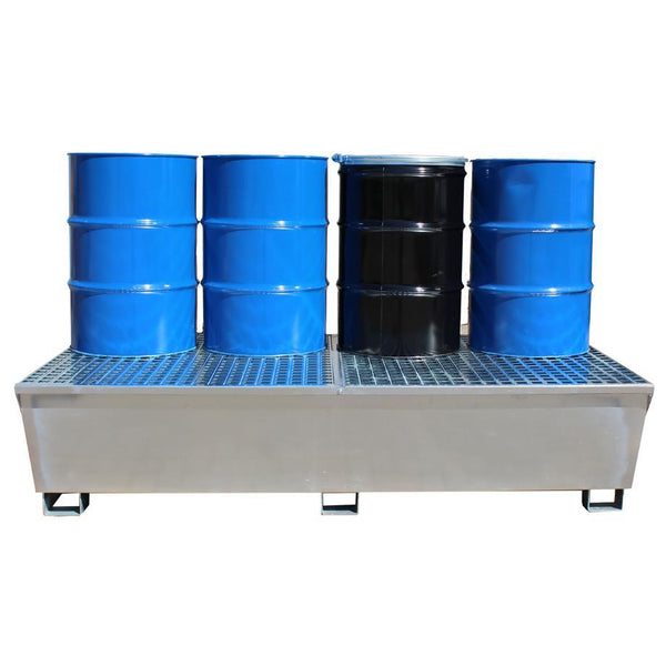 Double IBC Spill Pallet - Galvanised Steel -GSP2IBC  || 2 IBCs