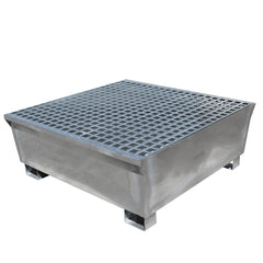 Galvanised Steel Spill Pallet - GSP4D || To Hold 4 Drums