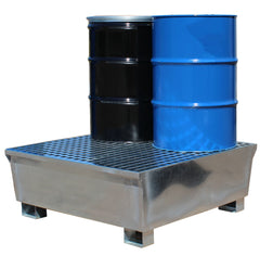 Spill Pallet Four Drums - GSP4D || Galvanised Steel