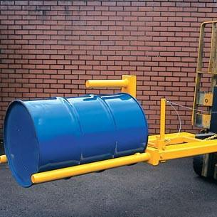Hinged Drum Forklift attachment