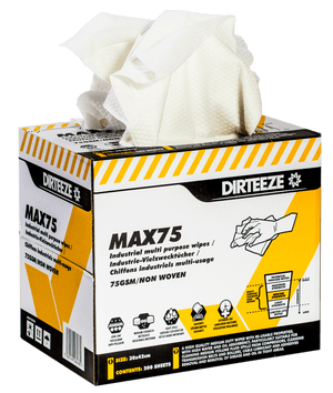 Dirteeze Industrial Multi-Purpose Wipes - MAX75B ||1 Box of 176 Wipes