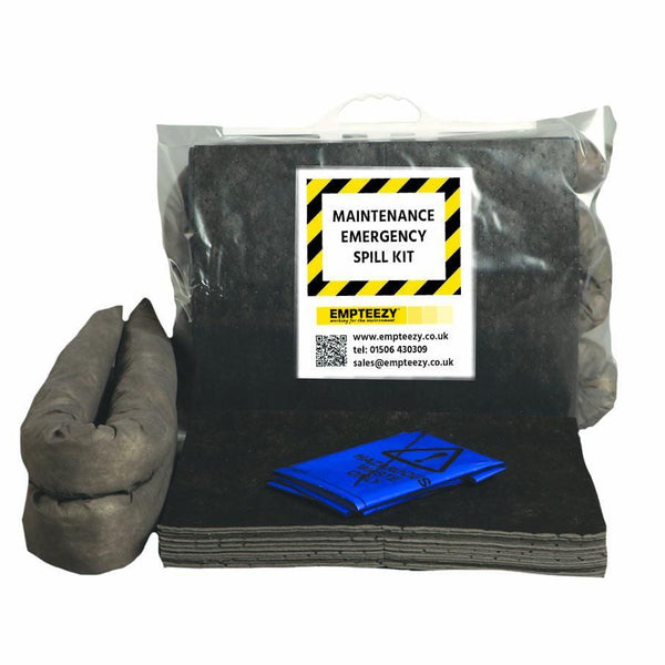 Maintenance Spill Kit Clip Top Bag with Carry Handle - M15SK || 15ltr Absorbency