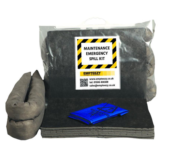Maintenance Spill Kit Clip Top Bag with Carry Handle - M30SK || 30ltr Absorbency