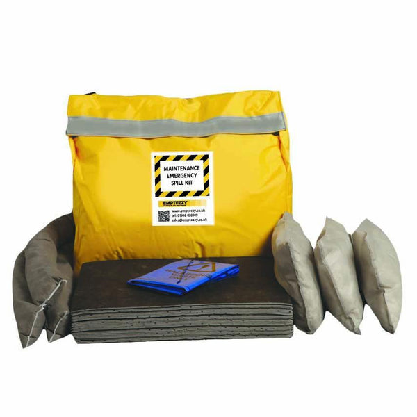 Maintenance Spill Kit Vinyl Bag with Shoulder Strap - M50SK || 50ltr Absorbency