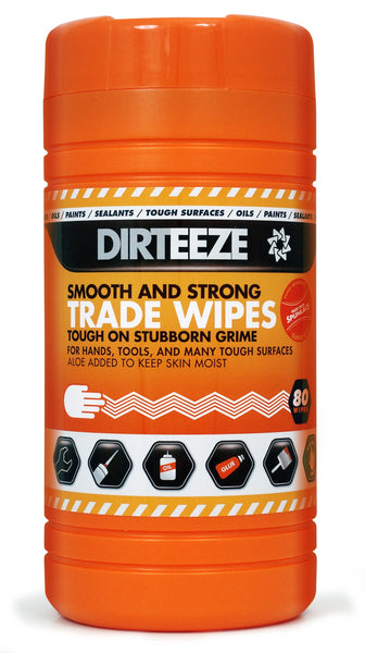 Dirteeze Trade Wipes Smooth & Strong Cloths - DGCL ||8 Tubs of 80 Wipes