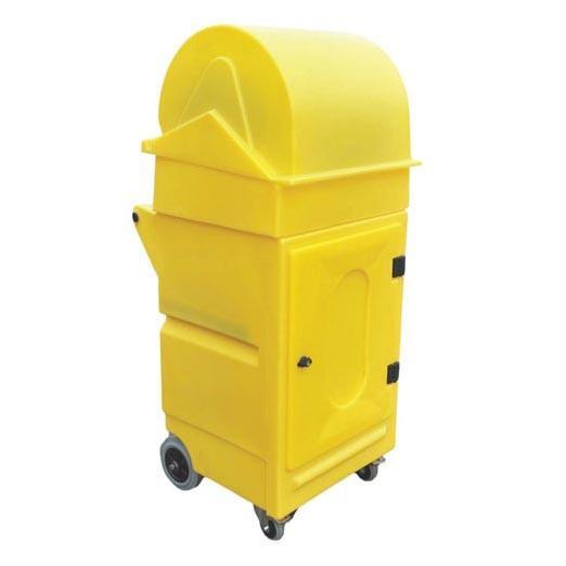 Lockable Cabinet on Wheels with Roll Holder
