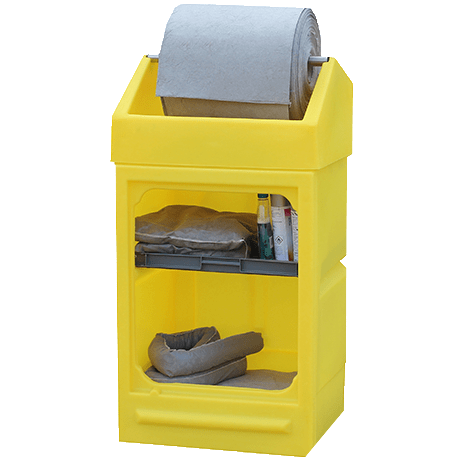 Open Fronted Polyethylene Cabinet with Roll Holder || Rolls up to 550mmØ