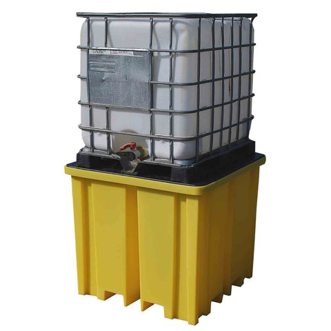 IBC Spill Pallet for 1 IBC with 4 way forklift entry