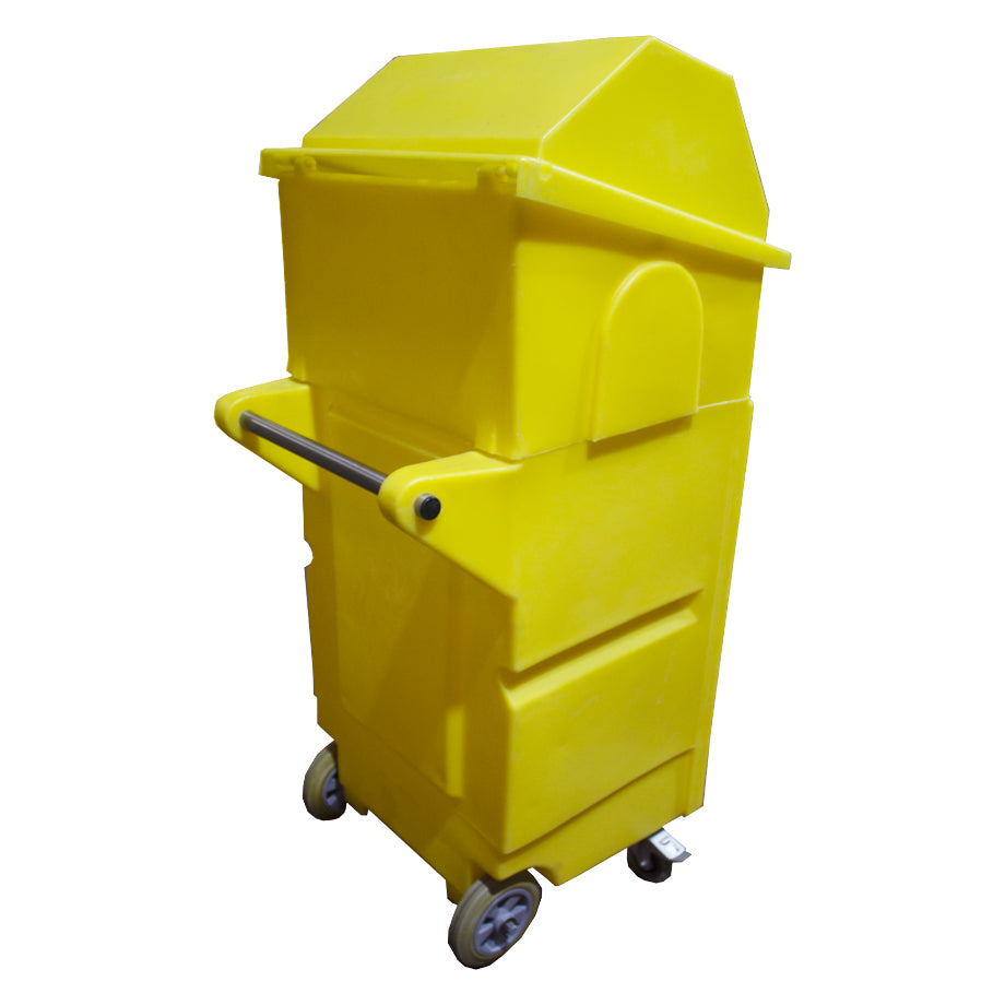 Lockable Cabinet on Wheels with Roll Holder - PMCL4 ||L650 x W725 x H1520mm