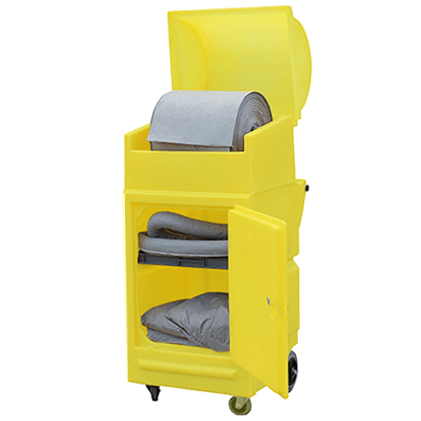 Lockable Polyethylene Cabinet on Wheels with Roll Holder || Rolls up to 430mmØ