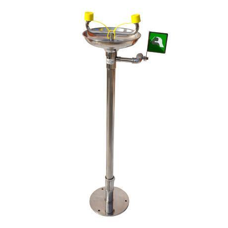 Pedestal Mounted Emergency Eyewash - PMEW-SS || Stainless Steel